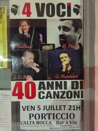 Reisverslag Corsica: muzikale aankondiging concert 4 voci