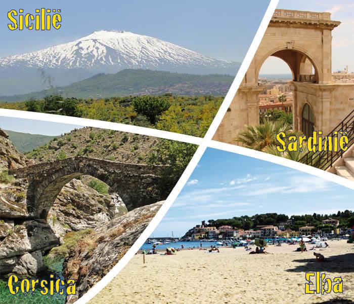 EilandenPlaza: Elba-Corscia-Sardinie-Sicilie
